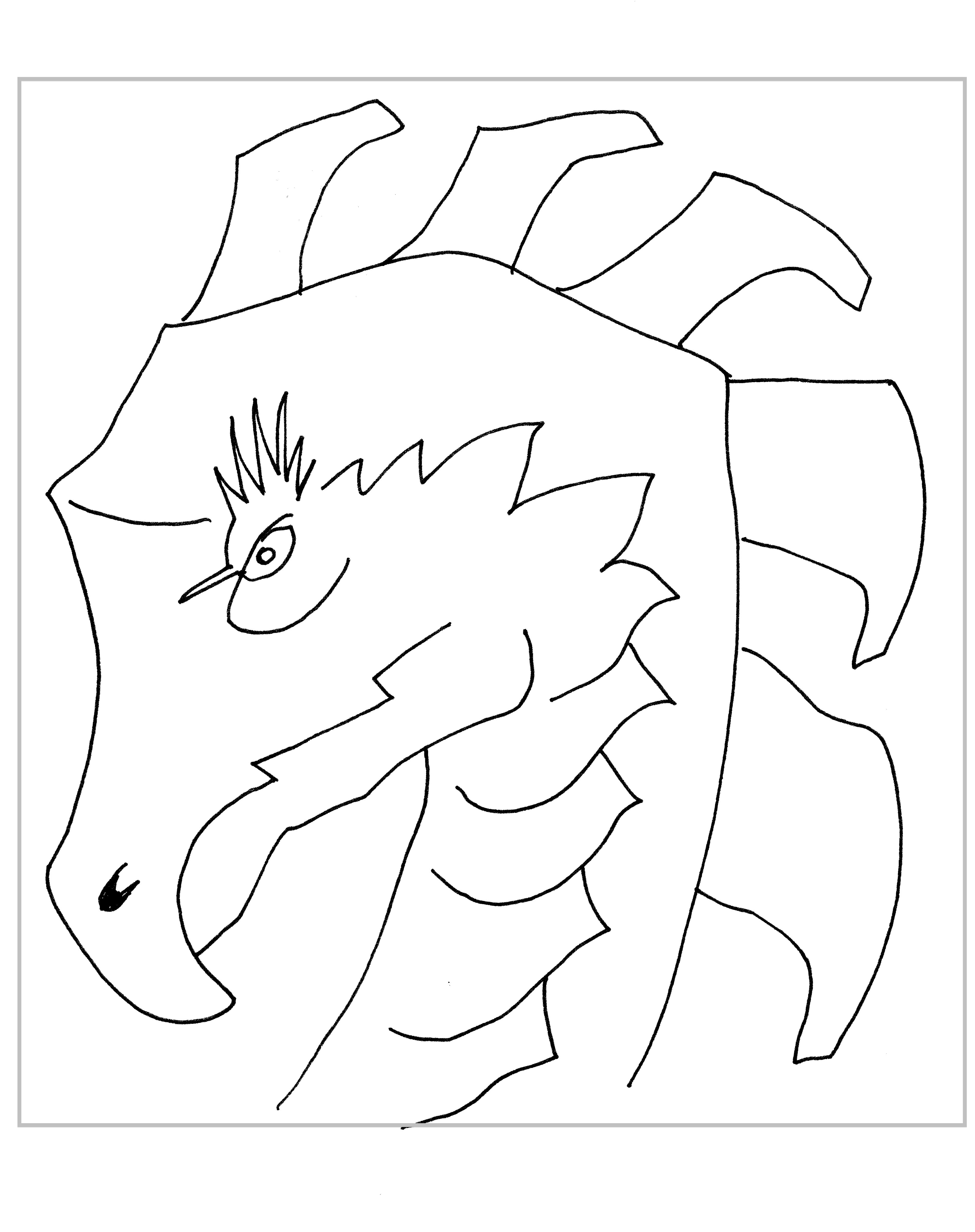 Dragon Head Shape a Zentangle Dragon Takes Shape