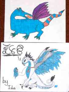 Year 4/5 winning dragon pictures above and below